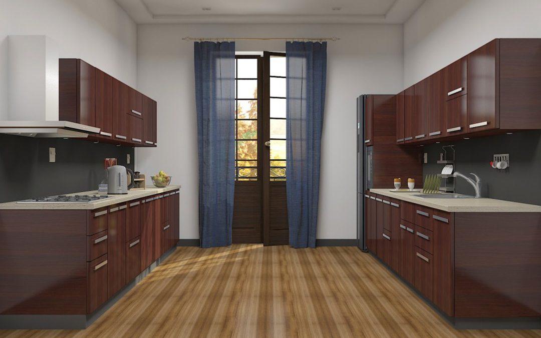 آشپزخانه طراحی موازی 2